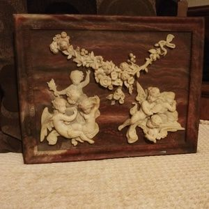 Vintage Genuine Incolay Marble sculpted art